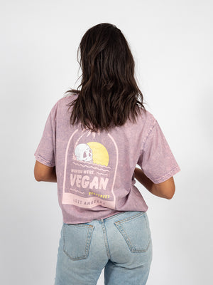 Wish You Were Vegan Crop Tee