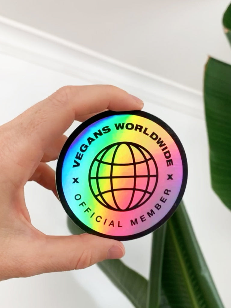 Vegans Worldwide Holographic Circle