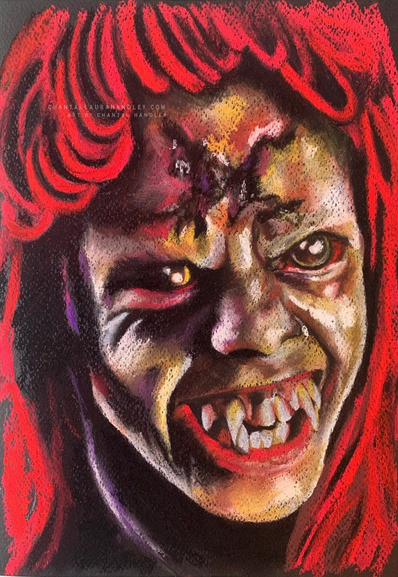FRIGHT NIGHT - Evil Ed - Original Pastel Artwork