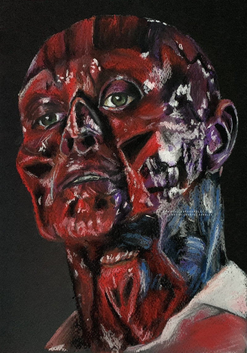 HELLRAISER - SKINLESS FRANK - Original Pastel Artwork