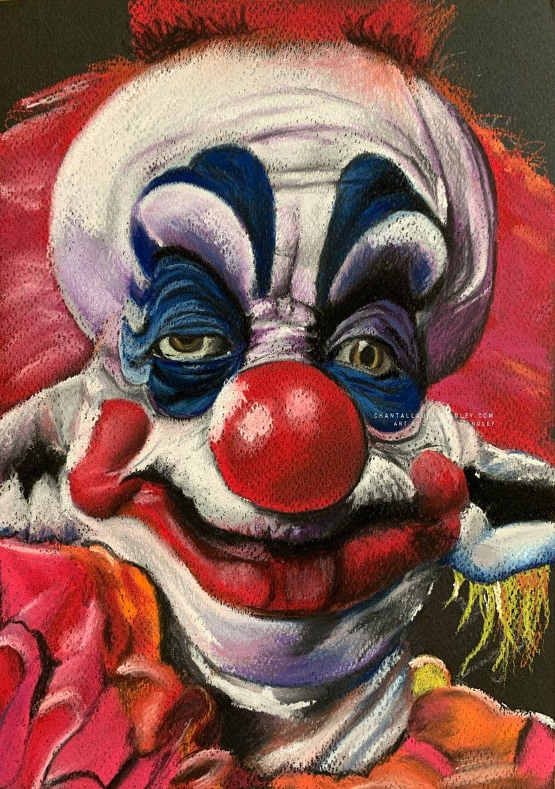 KILLER KLOWNS FROM OUTER SPACE - Original Pastel Artwork