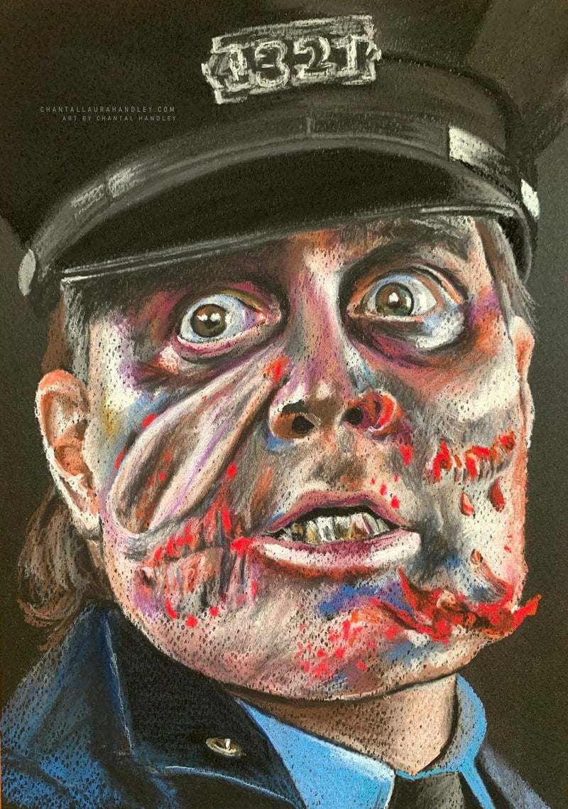 MANIAC COP - Original Pastel Artwork
