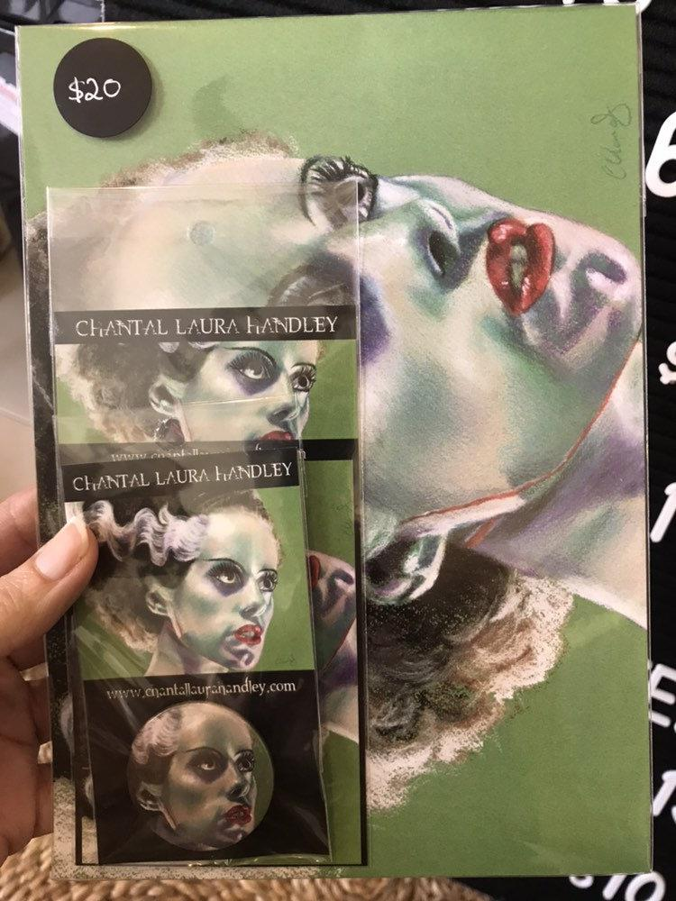 BRIDE OF FRANKENSTEIN - Horror Art Pack - ChantalLauraHandley