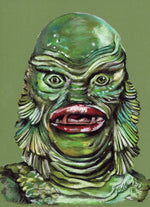 CREATURE from the BLACK LAGOON,         - Original Pastel Artwork - ChantalLauraHandley