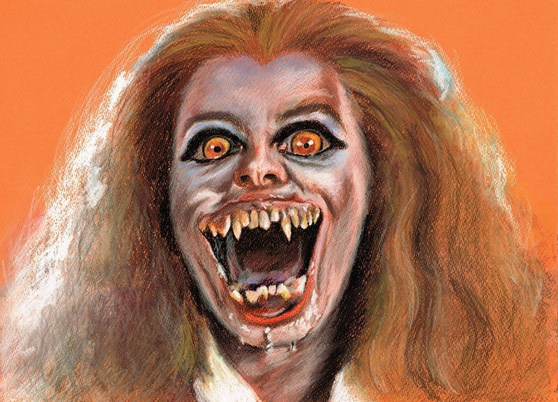FRIGHT NIGHT - Original Pastel Artwork - ChantalLauraHandley