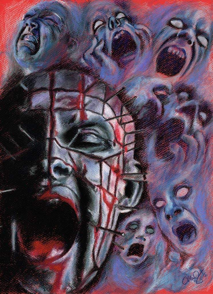 HELLRAISER - Original Pastel Artwork - ChantalLauraHandley