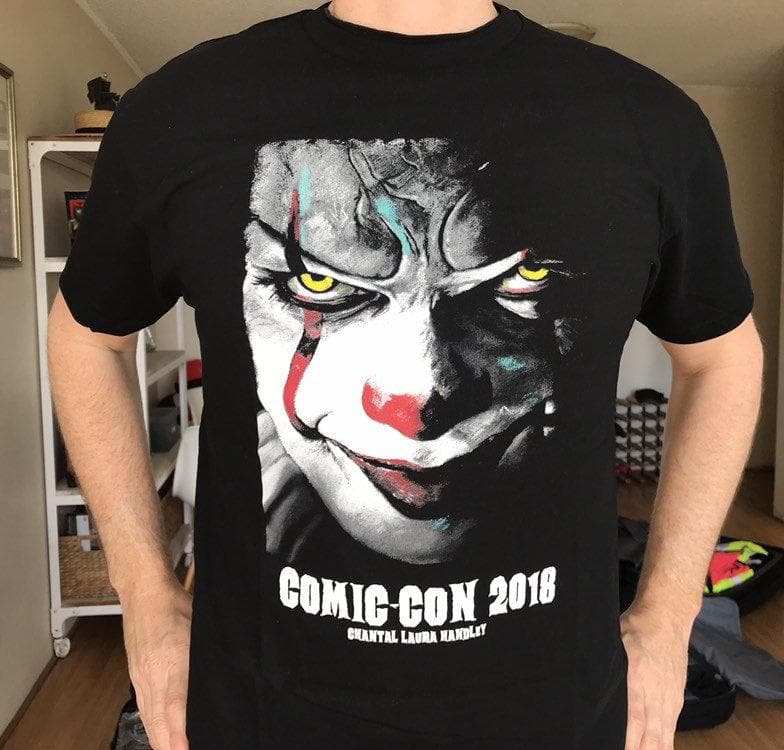 IT MOVIE - Pennywise Comic Con T-Shirt HORROR TEES ChantalLauraHandley