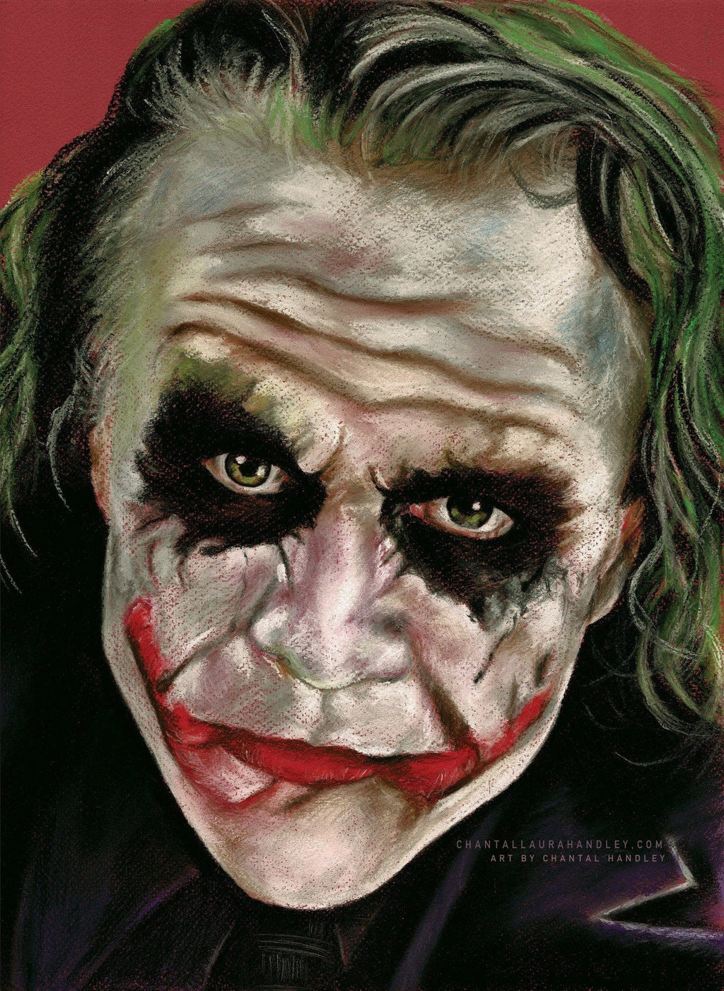 JOKER - DARK KNIGHT - Heath Ledger - Art Print ART PRINT ChantalLauraHandley