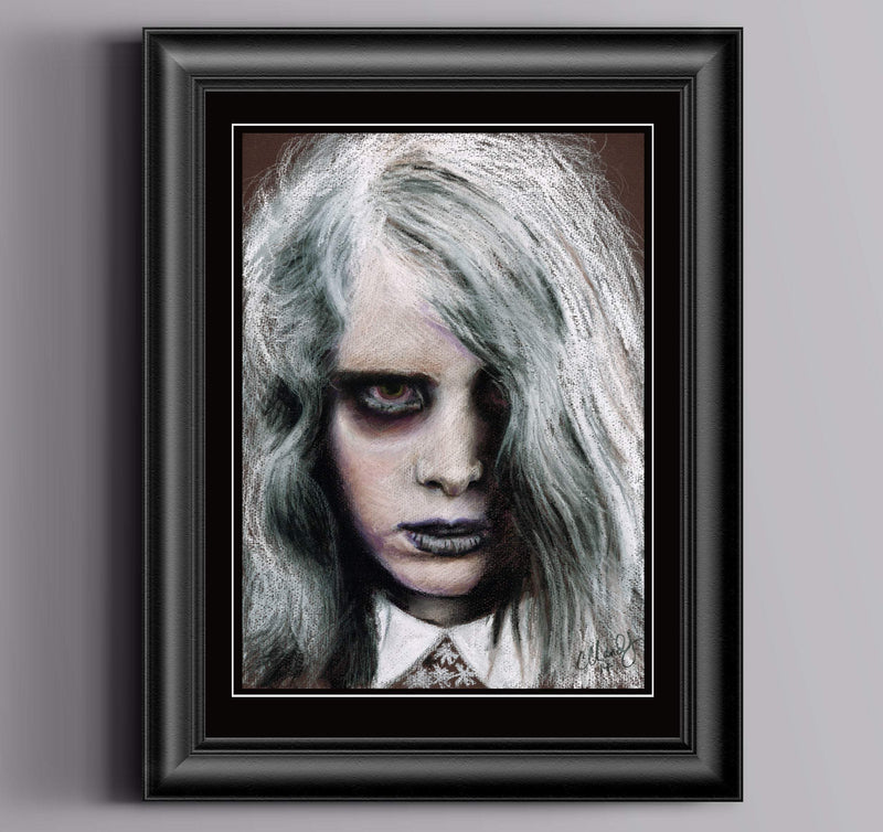 NIGHT of the LIVING DEAD - Original Pastel Artwork - ChantalLauraHandley