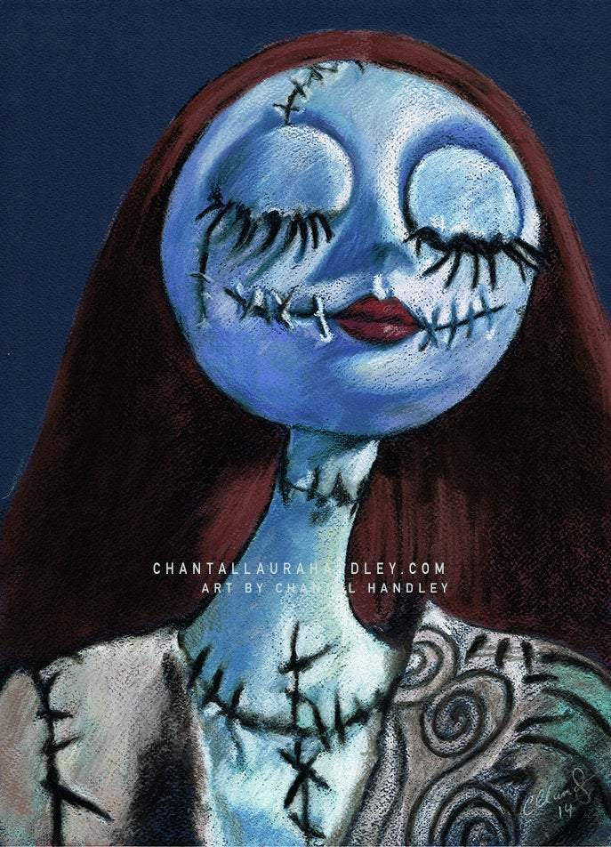 NIGHTMARE BEFORE CHRISTMAS - Original Pastel Artwork ORIGINAL ARTWORK ChantalLauraHandley