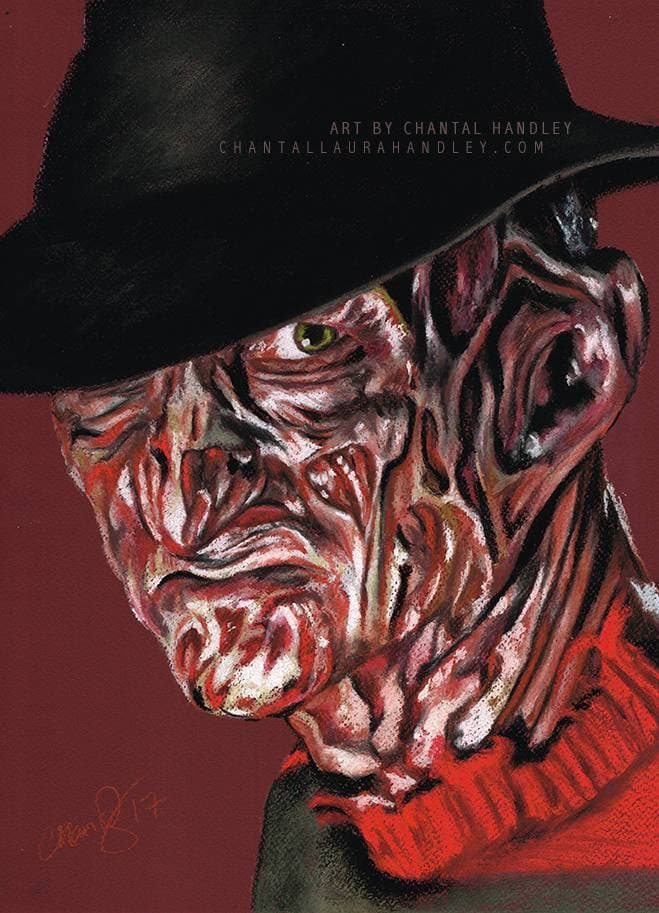 NIGHTMARE on ELM STREET - Freddy Krueger - Art Print ART PRINT ChantalLauraHandley