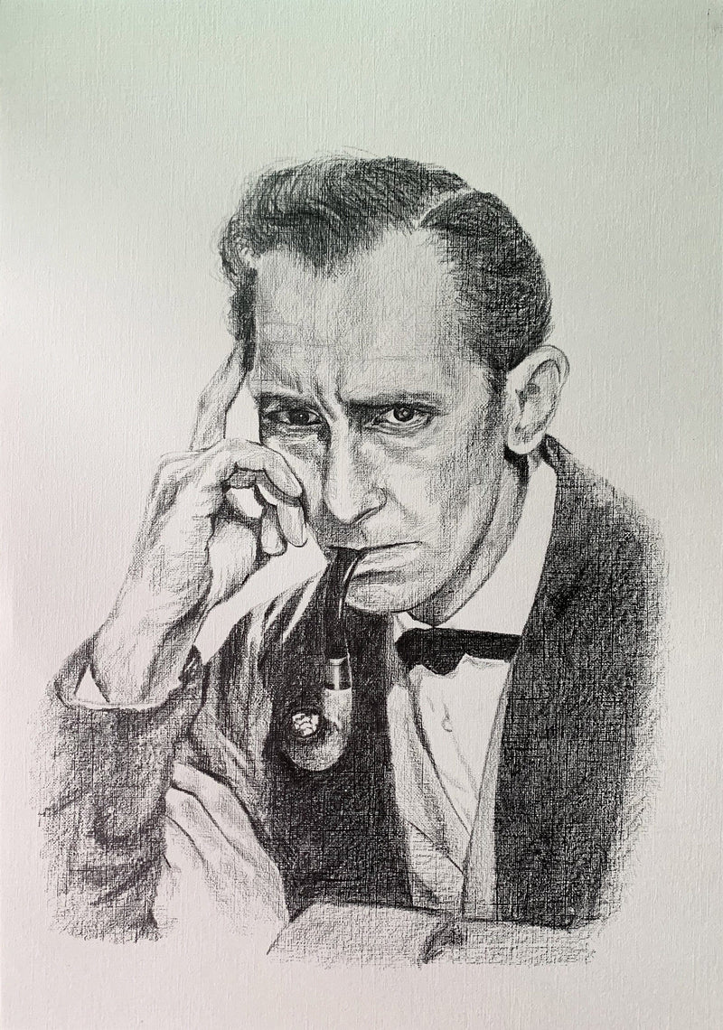 SHERLOCK HOLMES - Original Pastel Artwork ORIGINAL ARTWORK ChantalLauraHandley