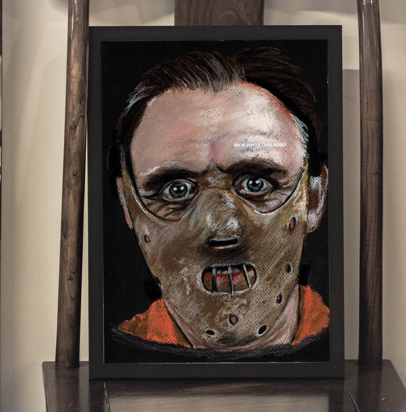 SILENCE of the LAMBS - Hannibal Lecter - Art Print - ChantalLauraHandley