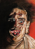 TEXAS CHAINSAW MASSACRE - Leather Face - Art Print - ChantalLauraHandley