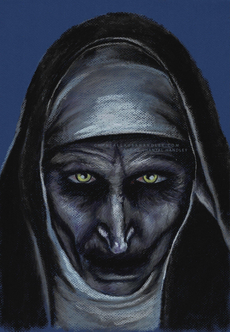 THE NUN - Original Pastel Artwork - ChantalLauraHandley