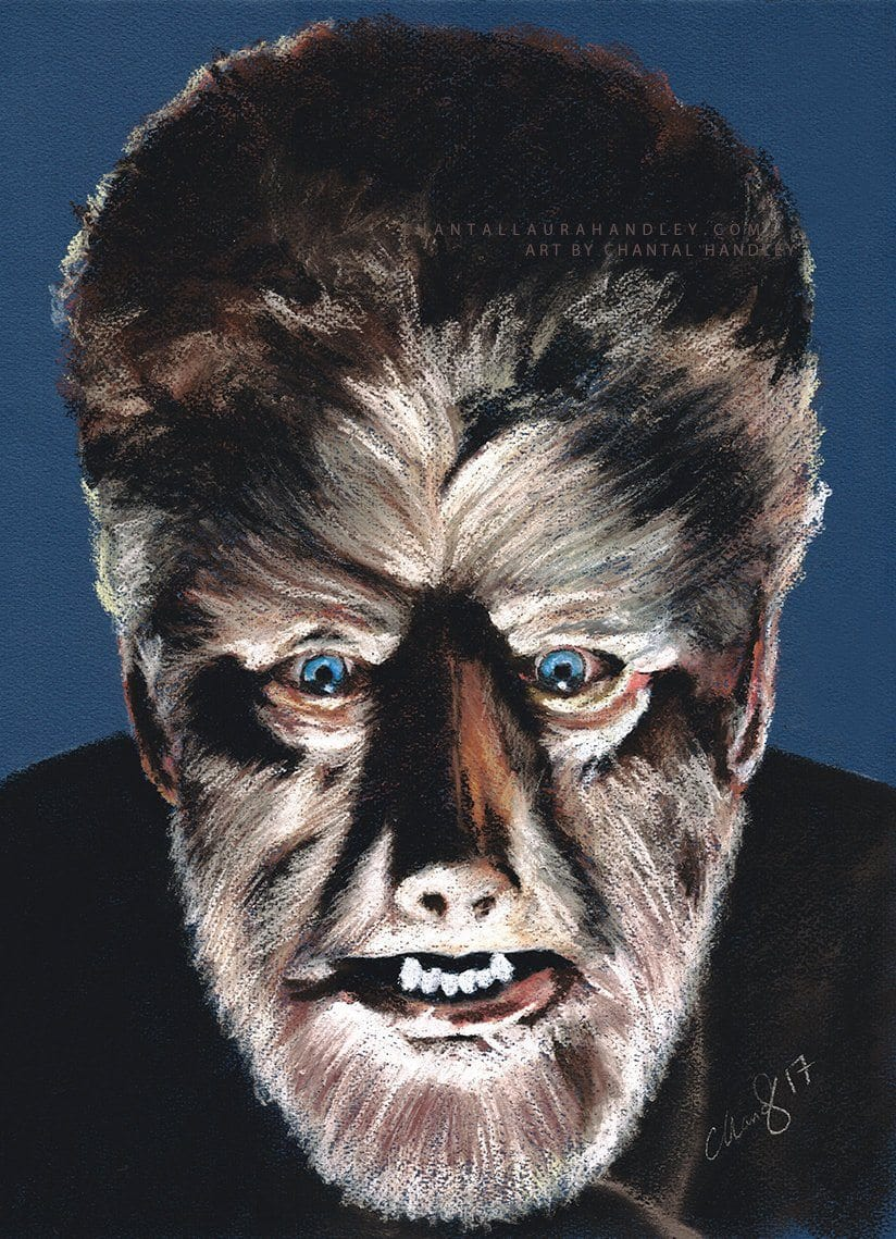 THE WOLFMAN - Lon Chaney Jnr - Art Print - ChantalLauraHandley