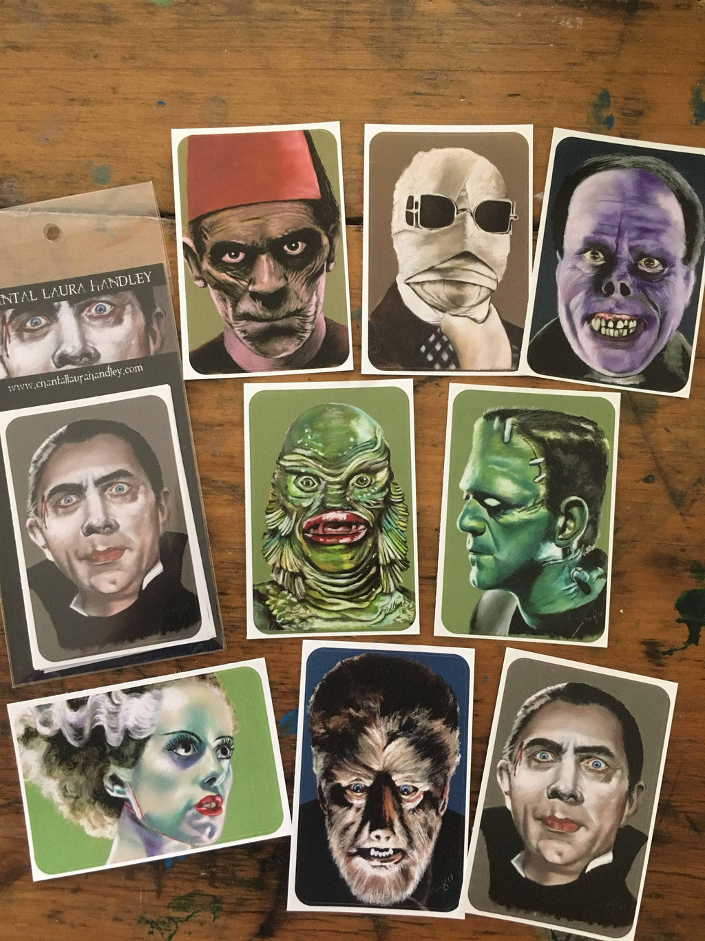 UNIVERSAL MONSTERS Horror Art Sticker Set - ChantalLauraHandley