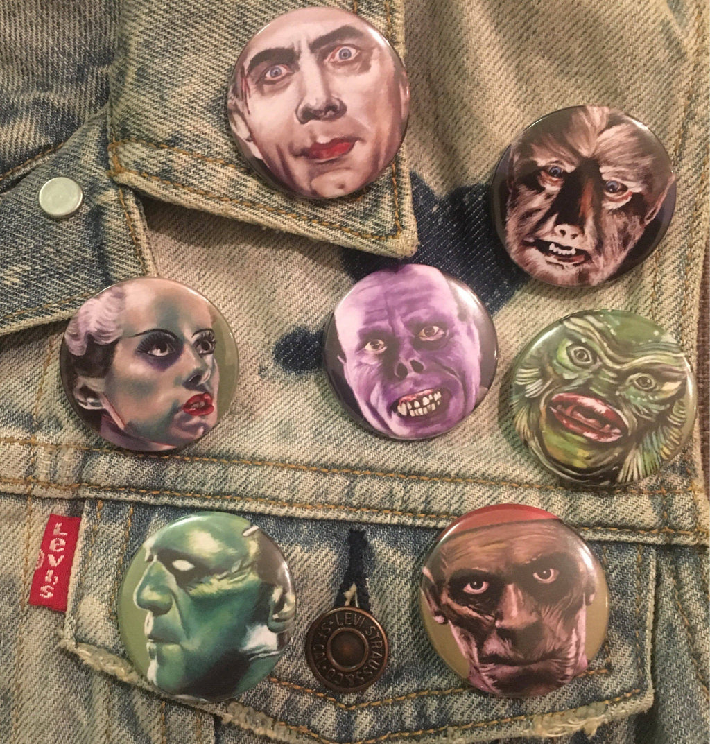 UNIVERSAL MONSTERS Horror Badges - ChantalLauraHandley