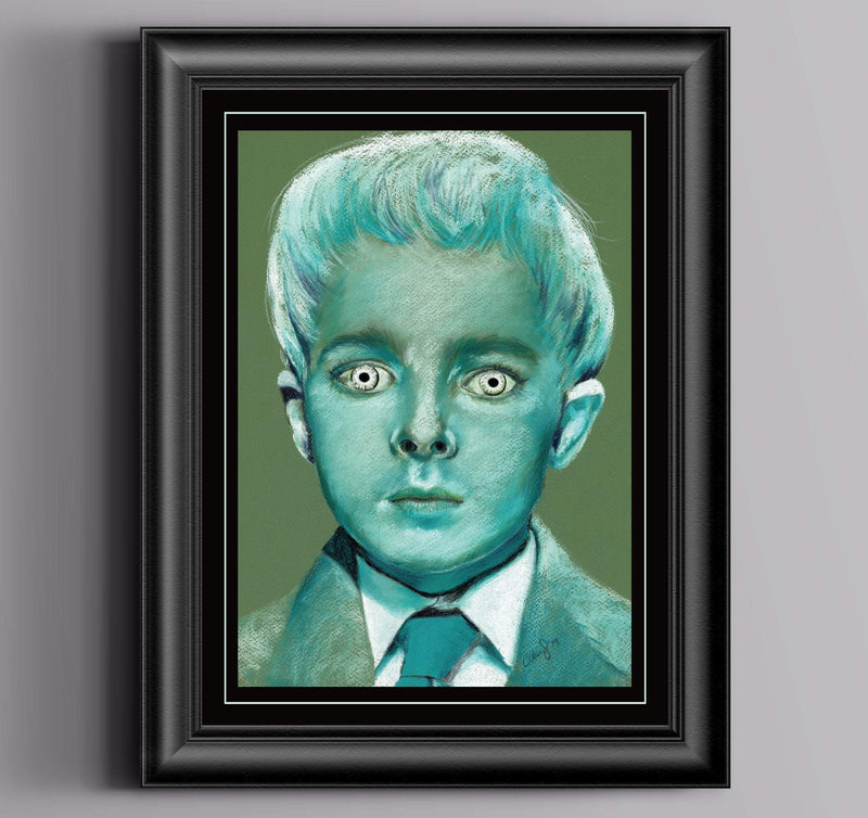 VILLAGE OF the DAMNED - Pastel Artwork - ChantalLauraHandley
