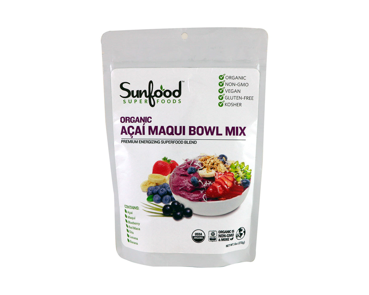 Acai Maqui Bowl Mix, 6oz, Organic
