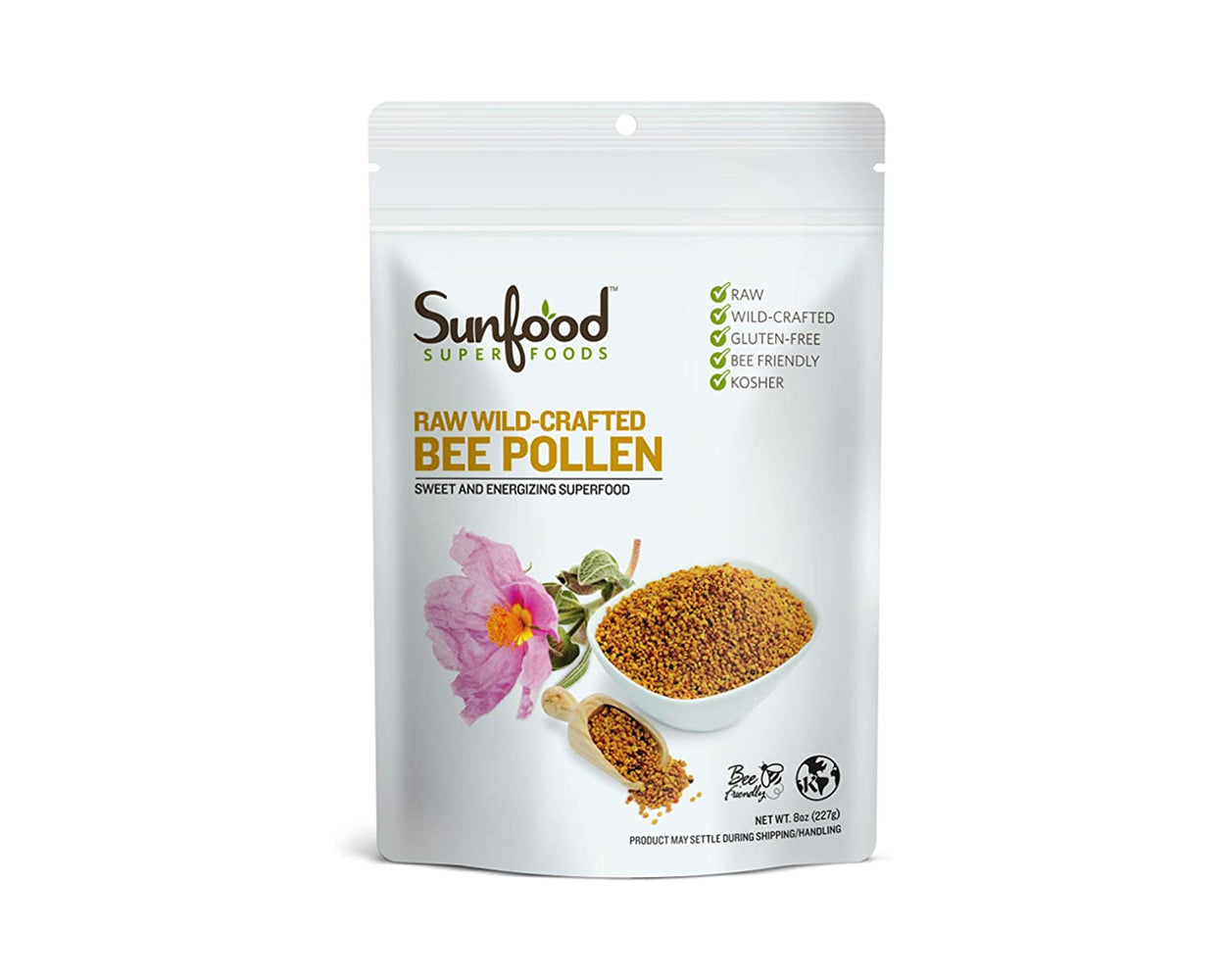 Bee Pollen, Wild-Crafted, 8oz, Raw