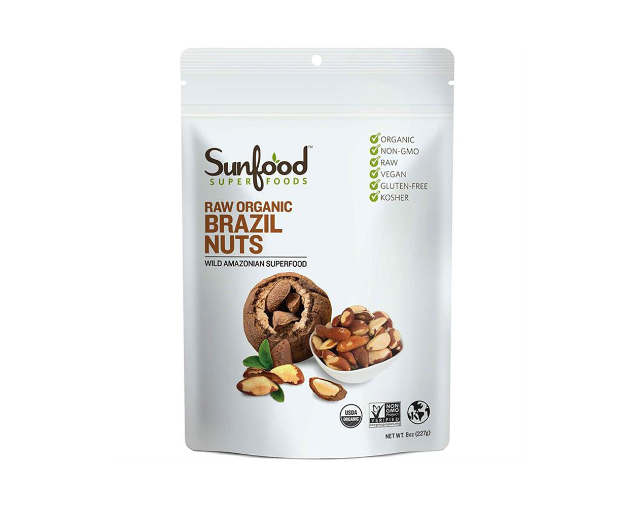 Brazil Nuts, 8oz, Organic, Raw