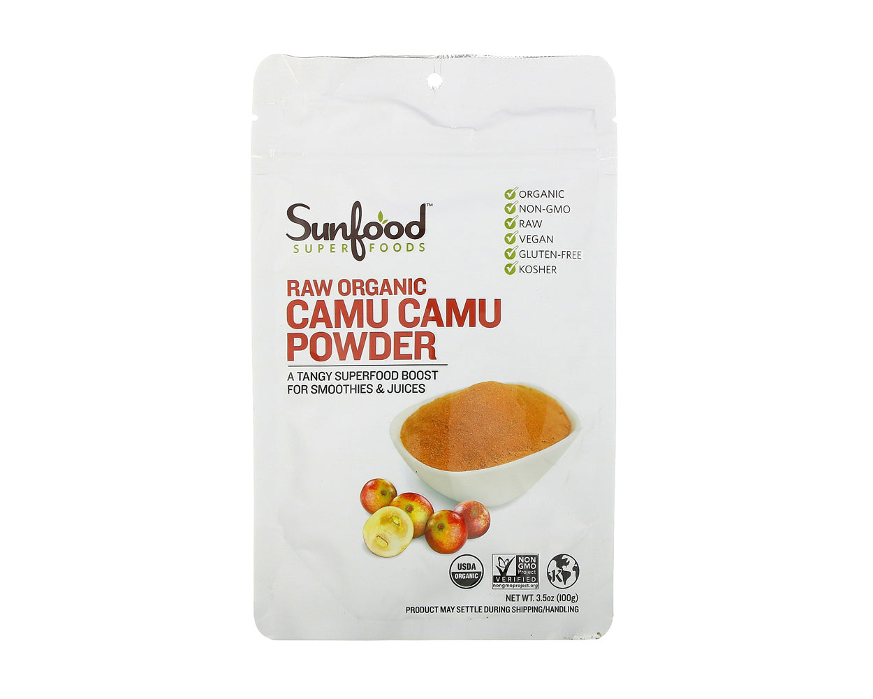 Camu Camu Powder, 3.5 oz, Organic, Raw
