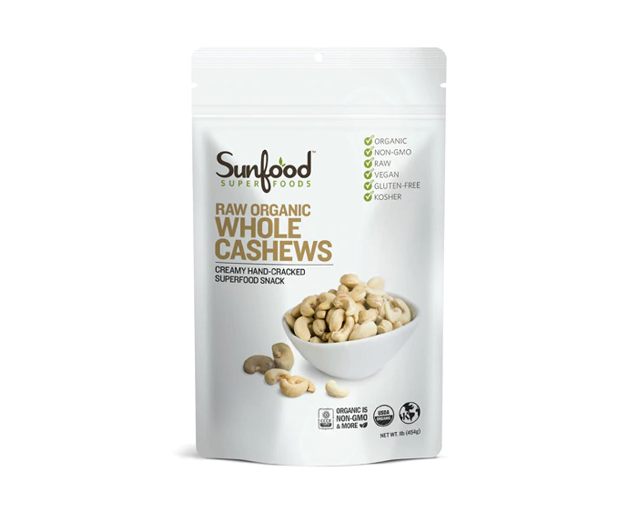 Cashews, Whole, 1lb, Organic, Raw