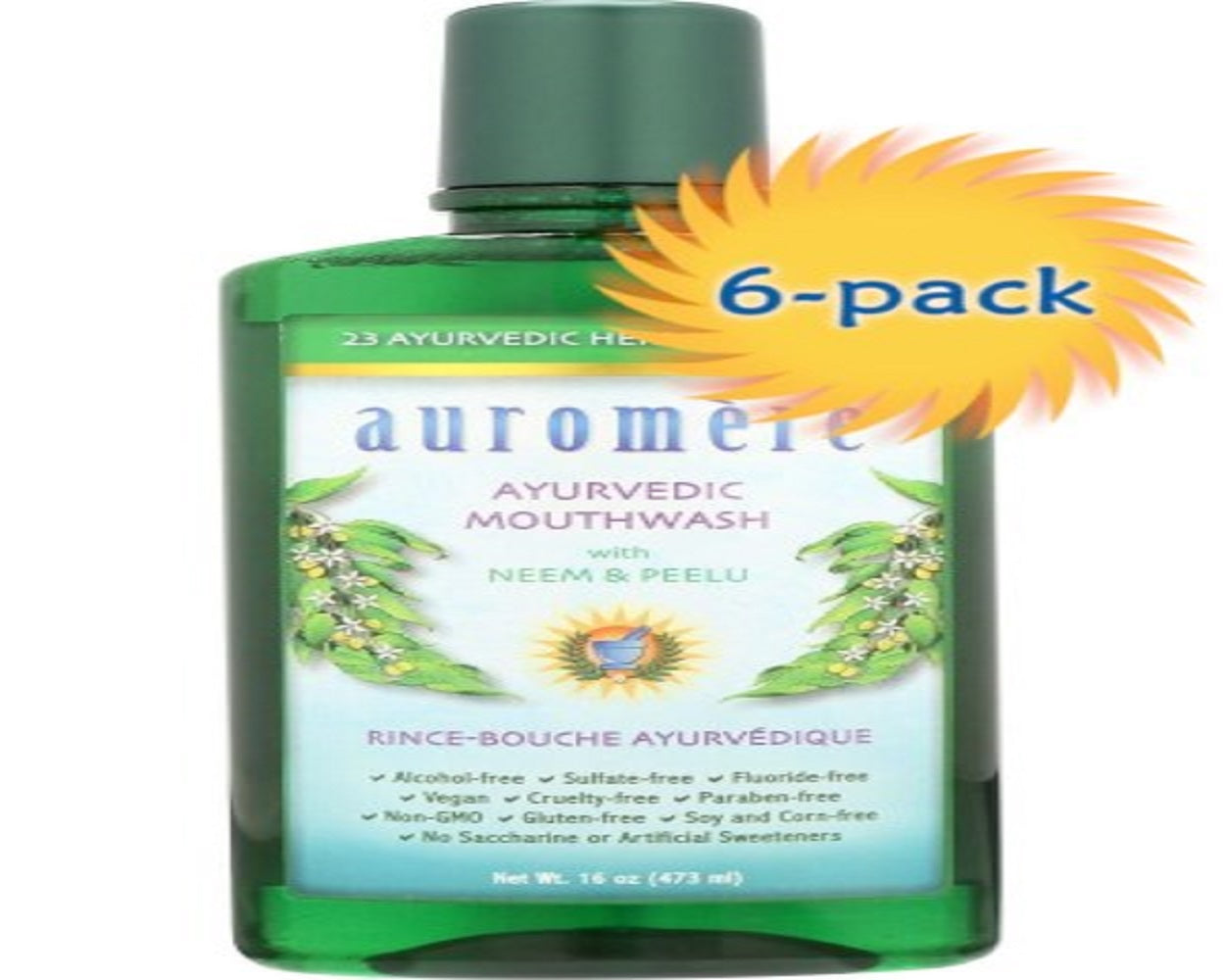 6-PACK 16 oz Ayurvedic Mouthwash