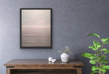 Load image into Gallery viewer, Have you ever noticed how there are days when the sky and the sea are almost the same colour? I wanted to depict that phenomenon with this painting. This is the ultimate serene and tranquil image, perfect for any room of your home to bring peace and quiet to your daily life. If you look closely at the waves you'll notice that they look three dimensional as you get lost in the atmospheric quality of the work.
