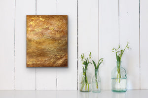 From my Topography Series. I just love how the metallic gold paint creates so much drama. Looking down on a golden field from above. Totally abstract yet inspired from a totally real image. This is one of my personal favourites and looks beautiful in any room and on any colour wall.