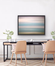 "Load image into Gallery viewer, his peaceful and tranquil  colour field painting is sold but available for commission. See the How to Commission a Painting tab.   30""x40"" Oil on Canvas with black floating frame."