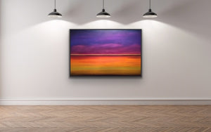 This is a surreal and minimalistic view of the beautiful colours that exist above and below the horizon. It creates an atmospheric and ethereal image for you to use to meditate, relax and dream.