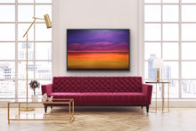 Load image into Gallery viewer, This is a surreal and minimalistic view of the beautiful colours that exist above and below the horizon. It creates an atmospheric and ethereal image for you to use to meditate, relax and dream.