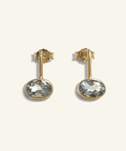 Aquamarine Oval Earring