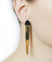 Load image into Gallery viewer, Dagger Gold Hinged Drop Earrings