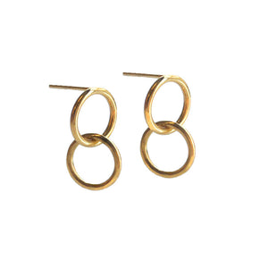 Mini Gold Double Hoop Earrings