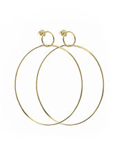 Load image into Gallery viewer, Gold Double Hoop Earrings