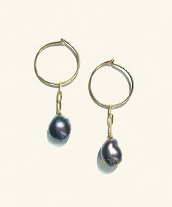 Nixie Pearl Hoops