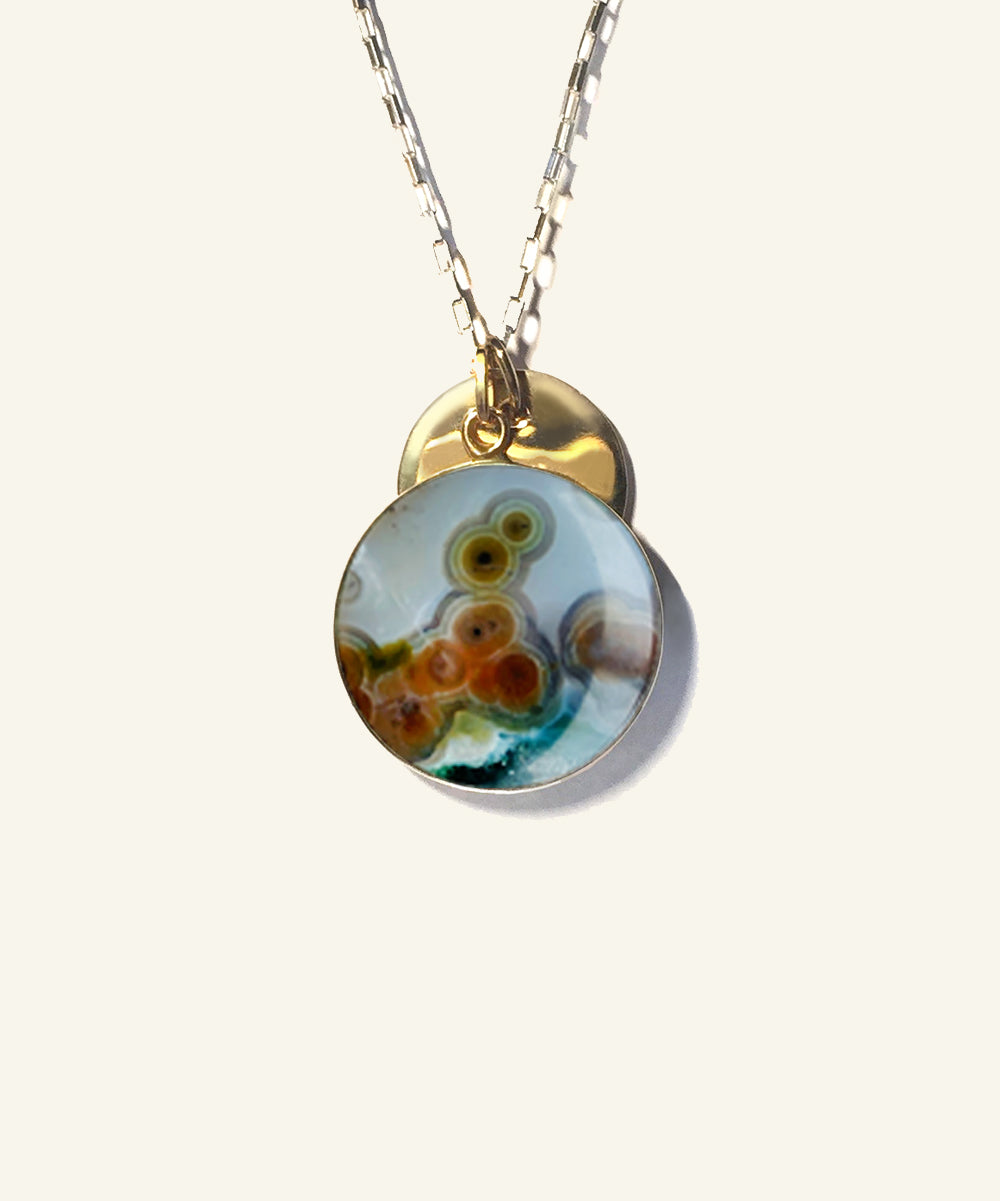 Ocean Jasper Solar Necklace