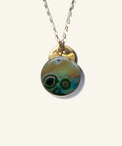 Ocean Jasper Medallion Necklace