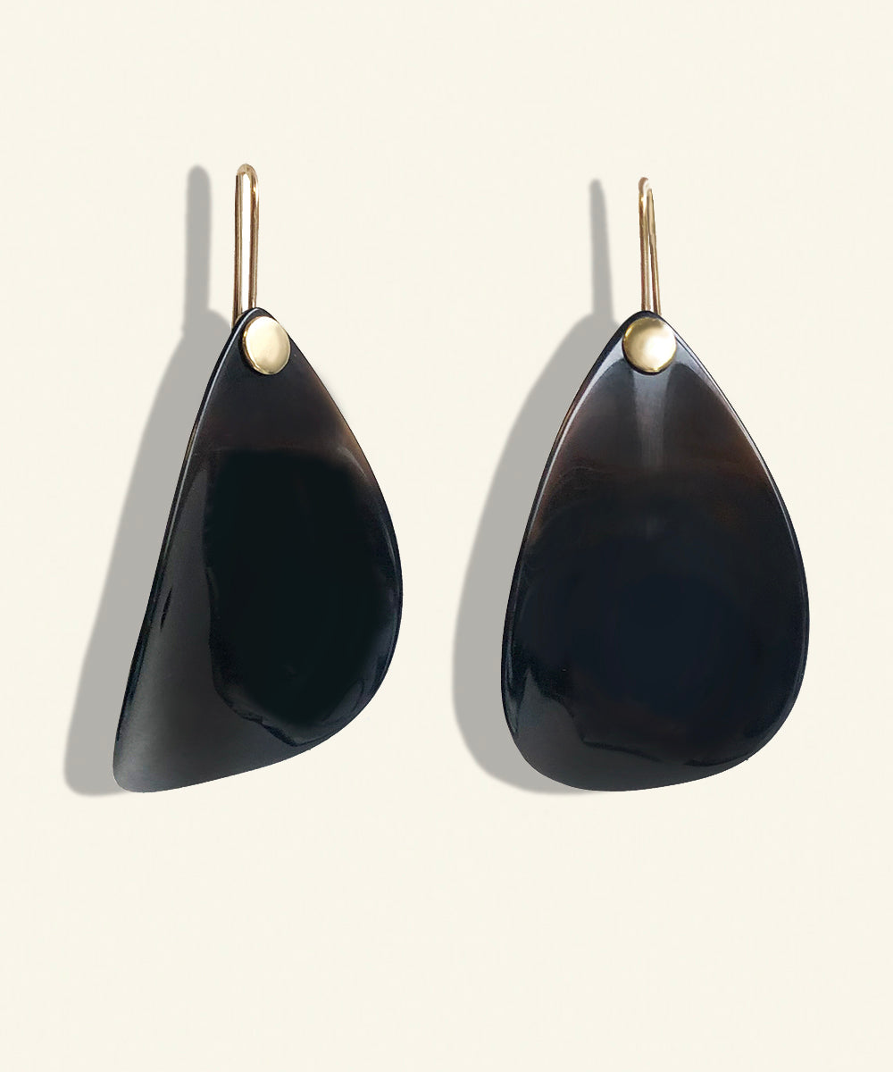 Vulcan Tears Onyx Earrings