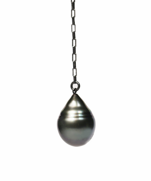 Tahitian Teardrop Pearl Slip-Knot Necklace