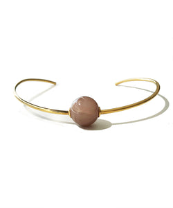Peach Moonstone Neck Ring