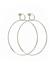 Load image into Gallery viewer, Silver Double Hoop Earrings