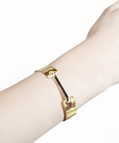 Gold Arrow Bracelet with Silver Clip