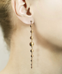 Align gold bauble earrings