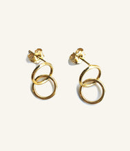 Load image into Gallery viewer, Mini Gold Double Hoop Earrings