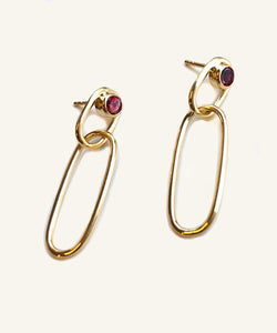 Pome Link Gold Hoops