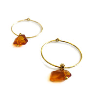 Load image into Gallery viewer, Kattegat Amber Hoops
